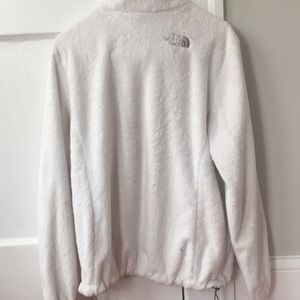 The North Face Jackets & Coats - White fuzzy north face jacket size medium